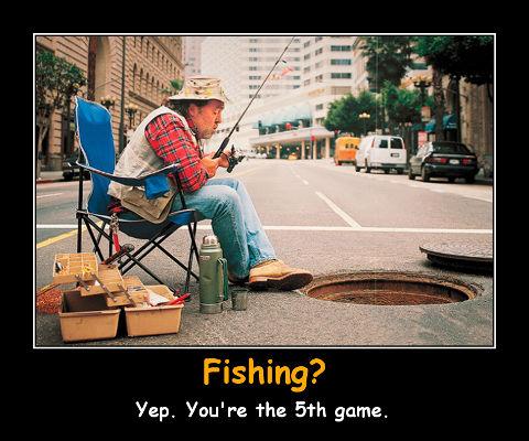 demotivator fishing prank