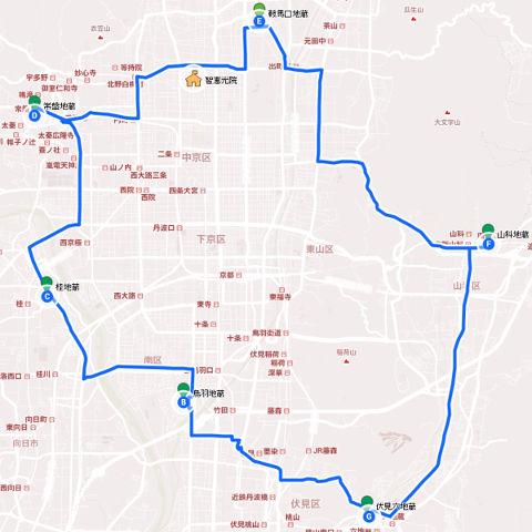 京の六地蔵巡り地図